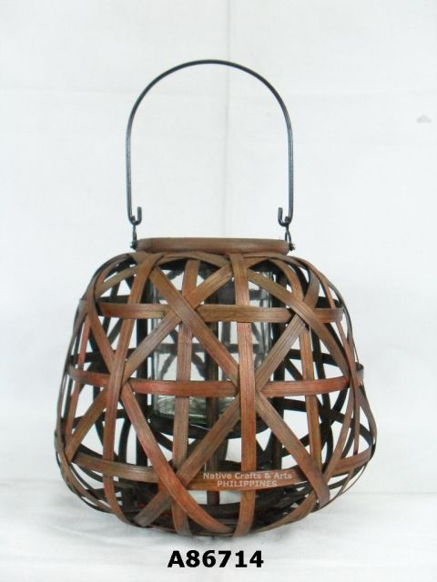 A86714 Bamboo Lantern Native Crafts And Arts
